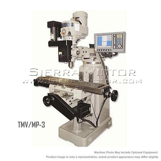 SHARP CNC Knee Mill with 3-Axis ACU-RITE MILLPWR TMV/MP-3