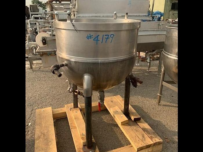 Used Groen 60 Gallon Stainless Steel Jacketed Steam Mix Kettle TH60