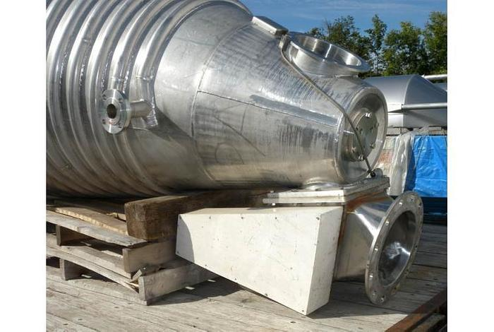 USED NAUTA MIXER, 282.5 CUBIC FEET, STAINLESS STEEL , JACKETED