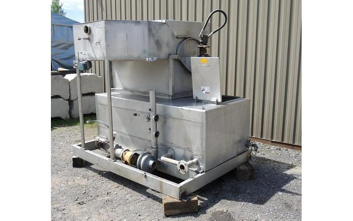 USED ROTO STRAINER, 25'' X 48'' , STAINLESS STEEL