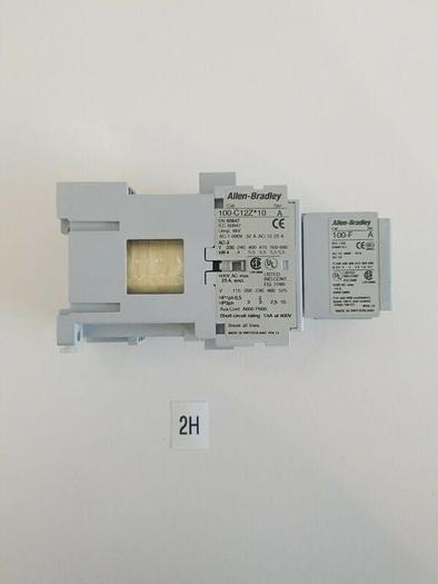 *NEW* AB 100-C12Z*10 Contactor Ser. A 600VAC 25A w/100-F Contactor Ser. A