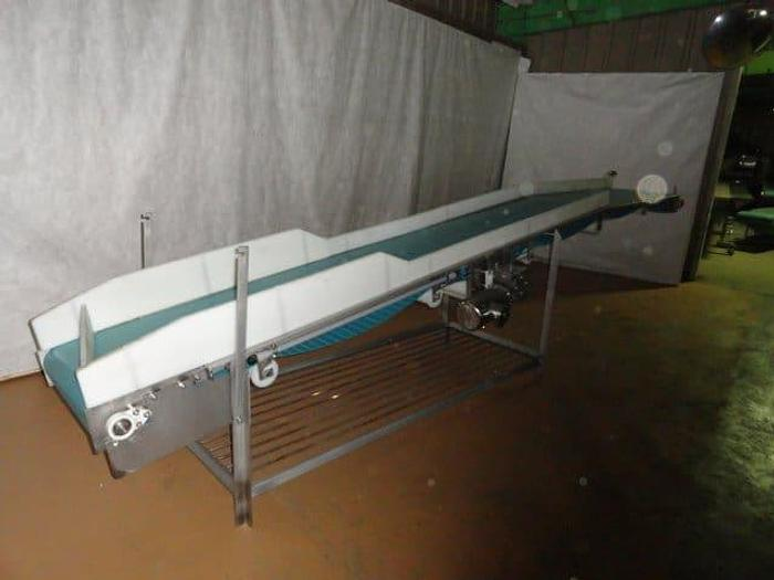 """Used Tri-Mach Dimple Belt Incline Conveyor; Md#Ever-Kleen, 24"""" wide x 16' long"""