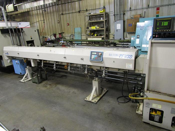 1996 Wasino SM-10B CNC lathe with sub-spindle, Y-axis cross milling spindle, and bar loader