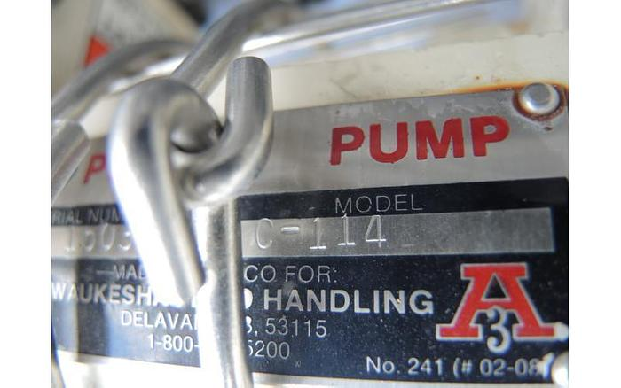 """USED CENTRIFUGAL PUMP, 1.5"""" X 1.5"""" INLET & OUTLET, STAINLESS STEEL, SANITARY"""
