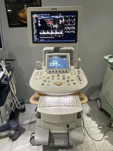 Gebraucht Philips iU22 Ultraschallgerät mit Flachmonitor, 3x Sonden, Sony Drucker