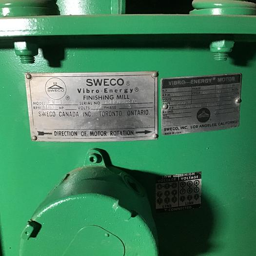10 cu. ft. Sweco Mdl. FM-10A Vibratory Finisher