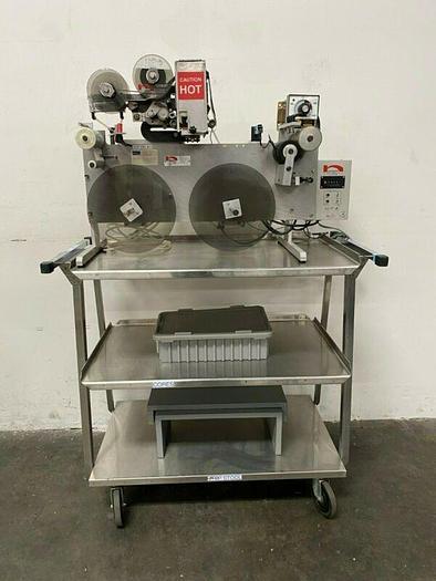 Used Norwood AK0-15 & L.I.S-404 Stainless Steel Hot Stamping Printer w/ Stamping Dies