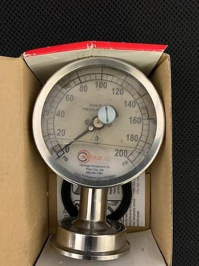 Chicago Stainless Equipment Sanitary Pressure Gauge 3S-F-2U-GF-BT-SS