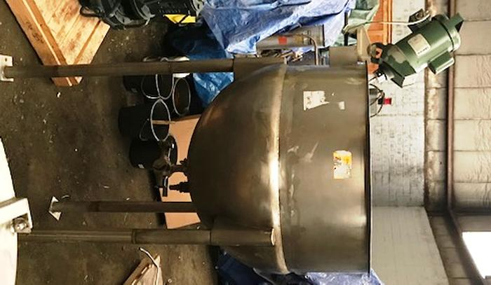 100 Gallon Approx. Capacity Stainless Steel Jacketed Mixing Kettle
