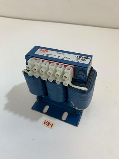 New MTE Corp. RL-00403 3-Phase Reactor Transformer 600V Max 60Hz 4 Amps 9.0mH