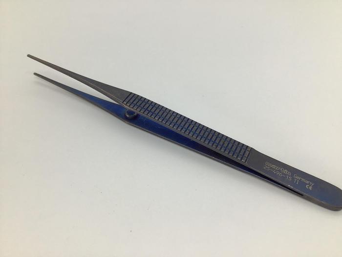 Used Martin KLS Plate Holding Forceps Titanium 150mm 25-496-15 Ti