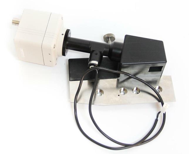 Used Hitachi CCD Camera & Moritex Corp. Ifm=0.05 P=0.13W 80X65 C39225 Assy. (5586)