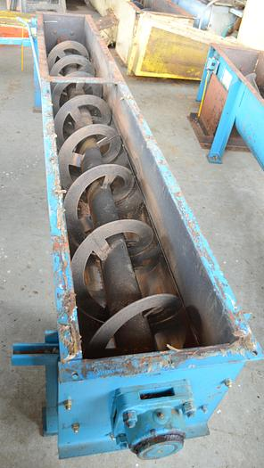 Used Ribbon Screw Conveyors, 5 HP, three available.