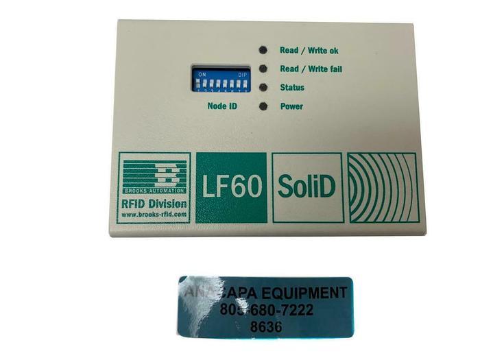 Used Brooks Automation TLS-12B-7O00-T1-00E1, LF60 SoliD RFID Reader (8636)W