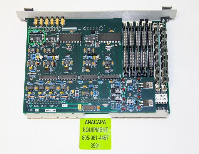 Used IVS 0001-00437-01 REV. A PCB / Interface Card from IVS 220 CD SEM (3591)