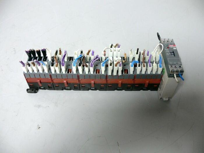 Used Lot of 5 ABB B6-40-00-F Mini Contactors + ABB CT-AHE 1SVR550111R2100