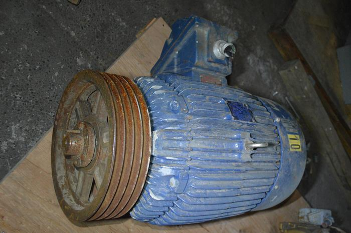 Used Teco Westinghouse 25HP motor, frame 284T, 1765 RPM, 230/460 volt