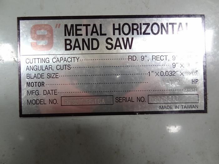 "PRO CUT 9"" X 16"" HORIZONTAL BANDSAW 110 VOLT SINGLE PHASE"