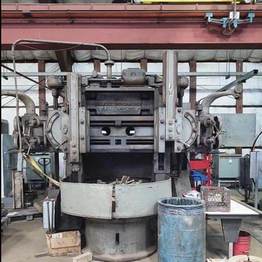 "Used King Vertical Turret Lathe, 52"" Table, 60"" Swing, 52"" H/UR, 4-184 rpm, 50 hp"
