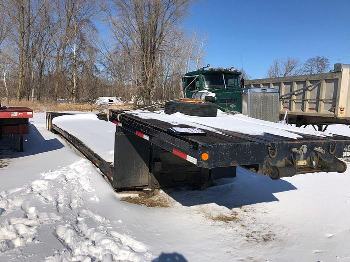 Used 1999 FONTAINE 48' Lowboy Drop Trailer