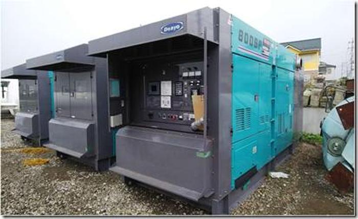 Komatsu Denyo SA12V140 New generator sets x 3 units Mfg year 2017