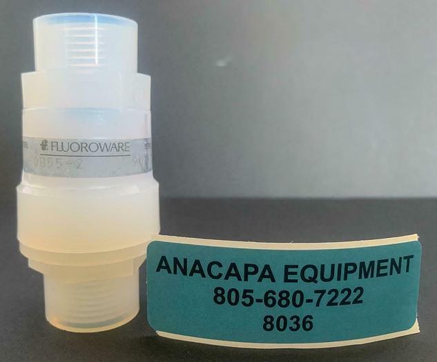 """Used Fluoroware / Entegris 206-0855-2, 1/2"""" Check Valve Viton (8036)W"""