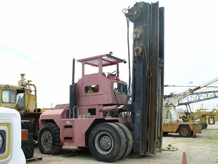 Used Taylor Model TY360S Forklift with Carriage and Long Forks