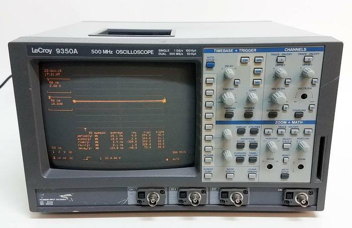 Used Teledyne LeCroy 9350A Two Channel Digital Oscilloscope 500MHz 1.00GS/sec (4903)