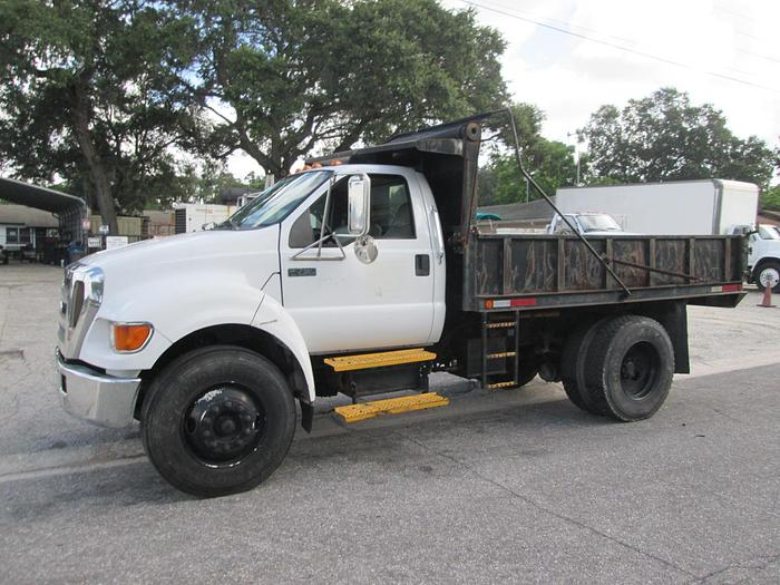Used 2007 Ford F750 Conventional Dump Truck