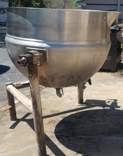 Refurbished 200 GALLON LEE KETTLE - S/S - JACKETED (#9408)