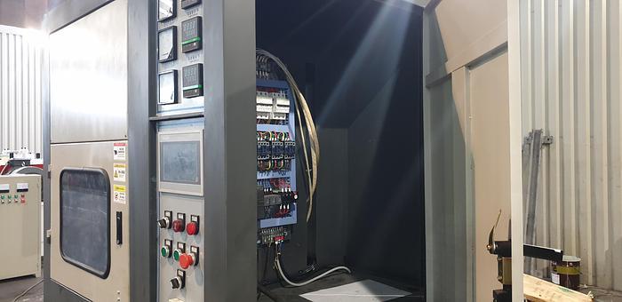 QTY 1 50 Ton Upstroke hydraulic lab press.