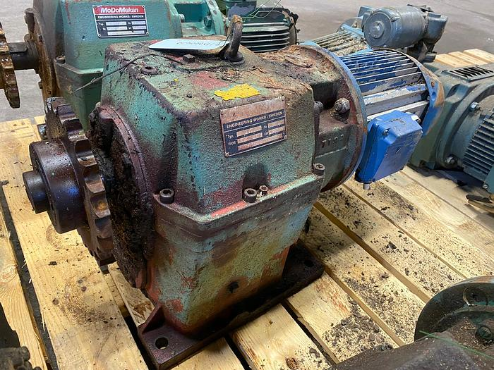 Used BEVI Electric motor with reducer 3 kW