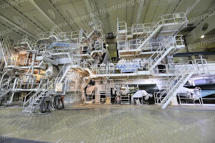 Gebraucht (PM4-88) - Paper Machine Fourdrinier Make Voith 6570 mm