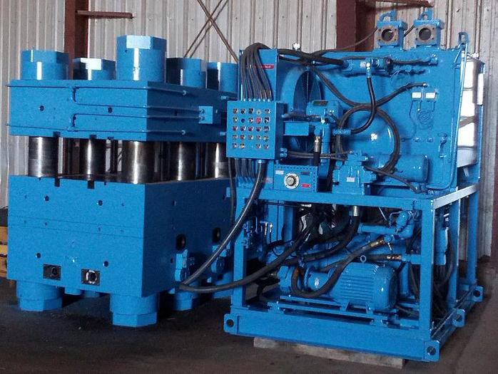 Used 2,000 Ton Reed City 6 Post Up-Acting Hydraulic Press; P.O.R.