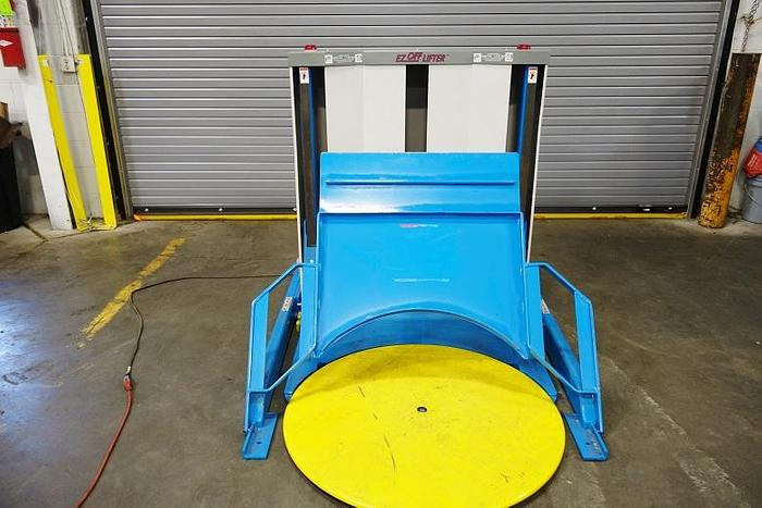 Bishamon EZ Off Pallet Lifter Pallet Rotator Pallet Shrink Wrap Ergonomic EZO 25 Es