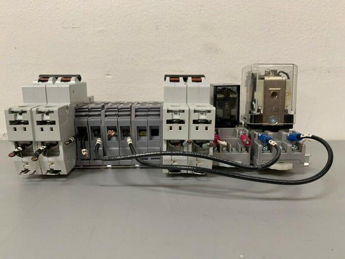 Used Terminal Block w/ V-Line D20 Circuit Breaker & Potter & Brumfield KHAU-11D11-24