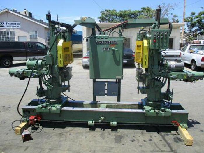 "Used MEDALIST-BELL MODEL 424, 80"" DOUBLE-END TRIM & BORE MACHINE"