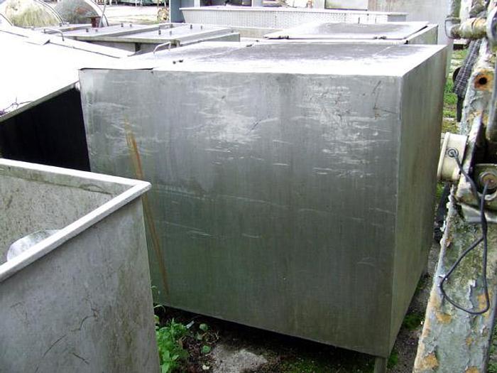 Zbiornik nierdzewny, 2-grodziowy z pokrywą