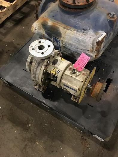 """Used AHLSTROM/ SULZER  1"""" X 3"""" CENTRIFUGAL PUMP S/S"""