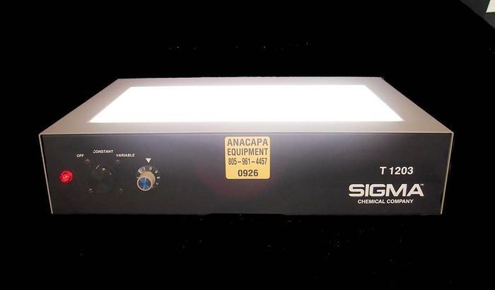 Used Sigma Chemical Company Sigma T 1203 Transilluminator (926)