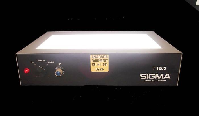 Used Sigma Chemical Company Sigma T 1203 Transilluminator, 16-3700 (926)