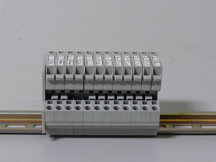 Used Lot of 12 Wago 281 800V 4mm Terminal Blocks