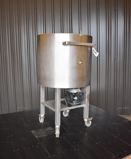 USED 60 GALLON STAINLESS STEEL TANK WITH TURBINE MIXER