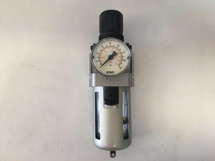 Used Pressure Regulation System w/ Norgren R22-405-RNMA, Dwyer Flow Meter & 316 Valve