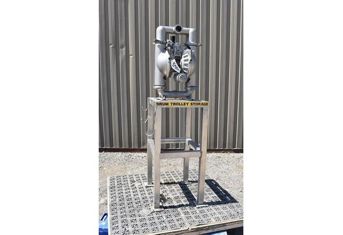 """USED DIAPHRAGM PUMP, 2"""" X 2"""" INLET & OUTLET, 316 STAINLESS STEEL, SANITARY"""