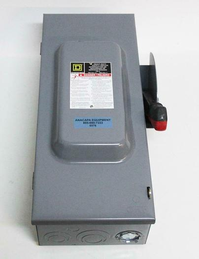 Used Square D H363 Heavy Duty Safety Switch Interrupter 100A (6576)