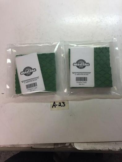 4 PACK VIBRATION PADS SUPER HEAVY DUTY GREEN 2x2 LOT OF 2