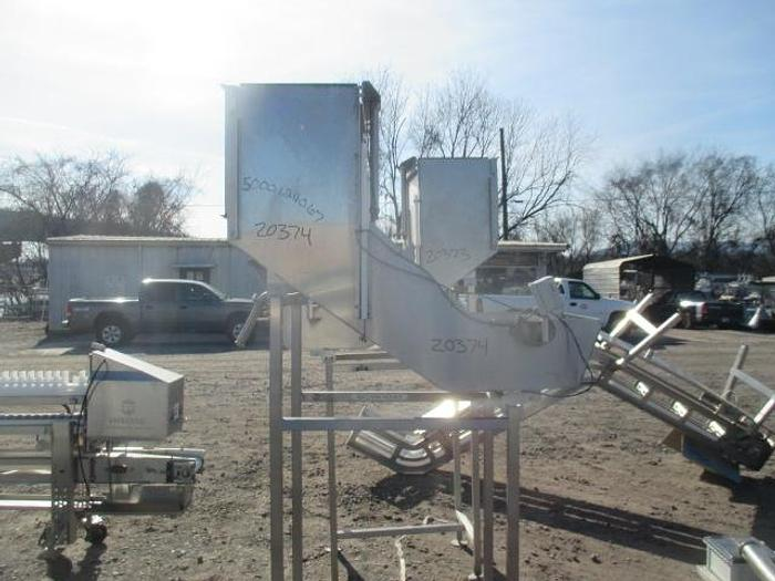 """Used Stainless Steel Load Hopper; 18""""Wx32""""L"""
