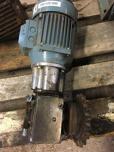 Used 1,3 kW, ABB Motors, Electric motor with reducer
