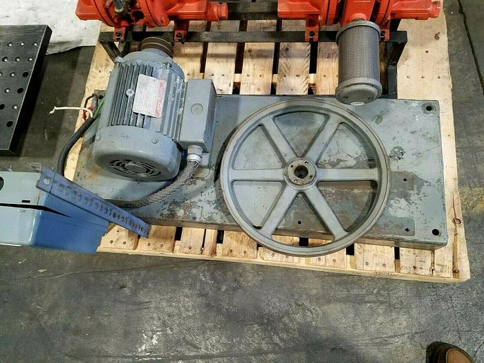 Used GE Electric Motor 145T Frame 2 HP 1725 RPM 145 Frame 230/460 3 Phase with Base